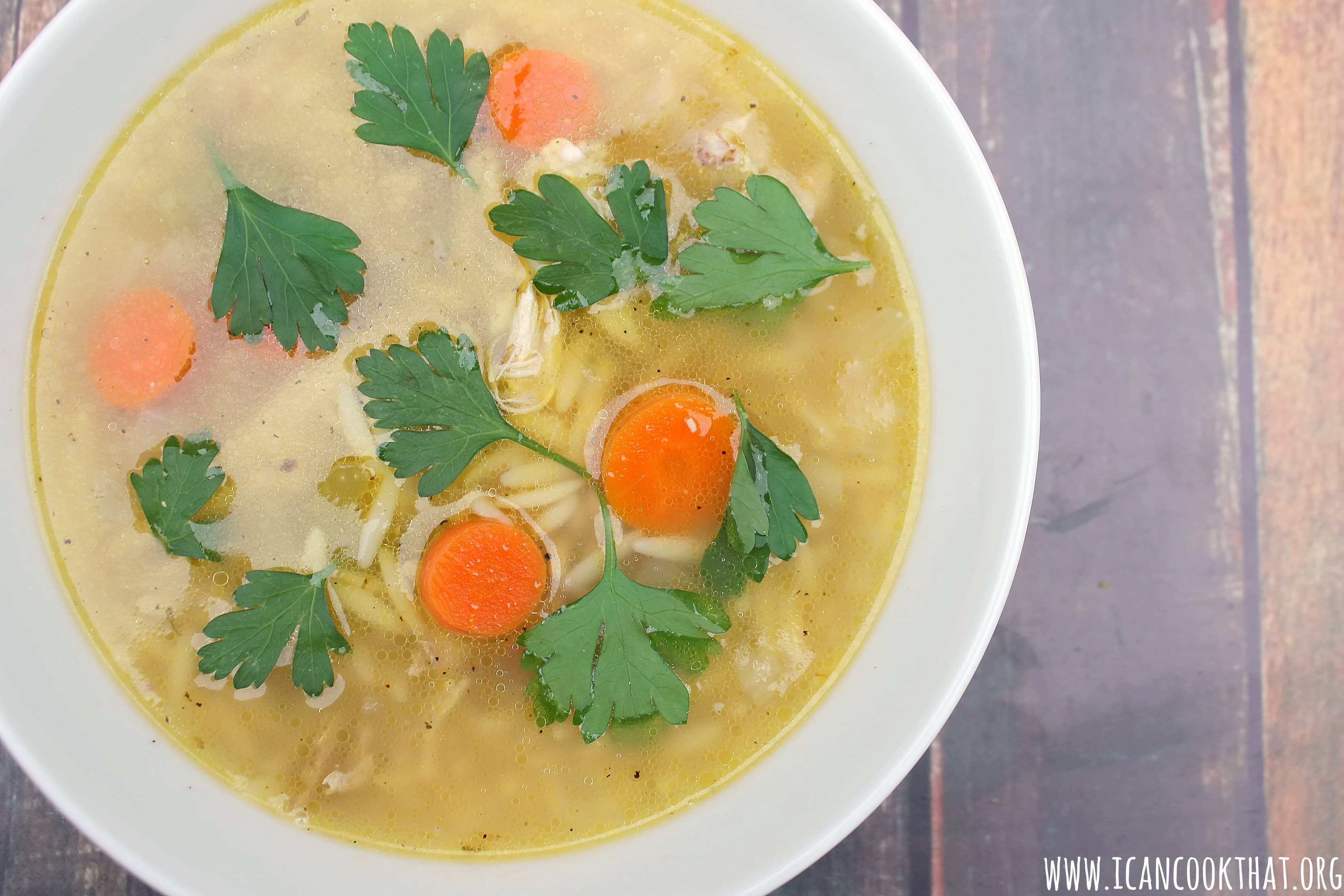 Pressure Cooker Chicken Orzo Soup