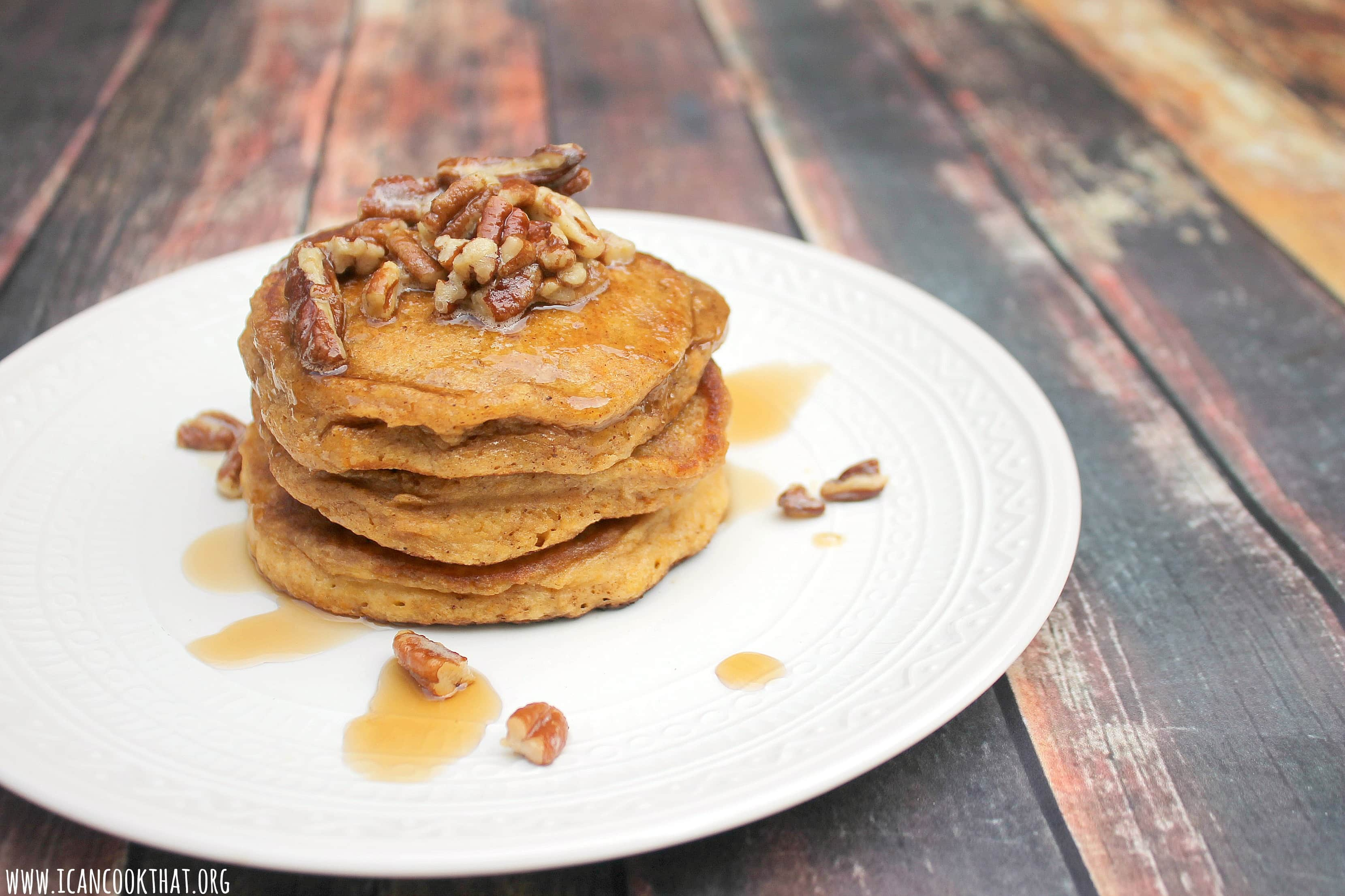 Sweet Potato Pancakes with Brown Butter Pecans