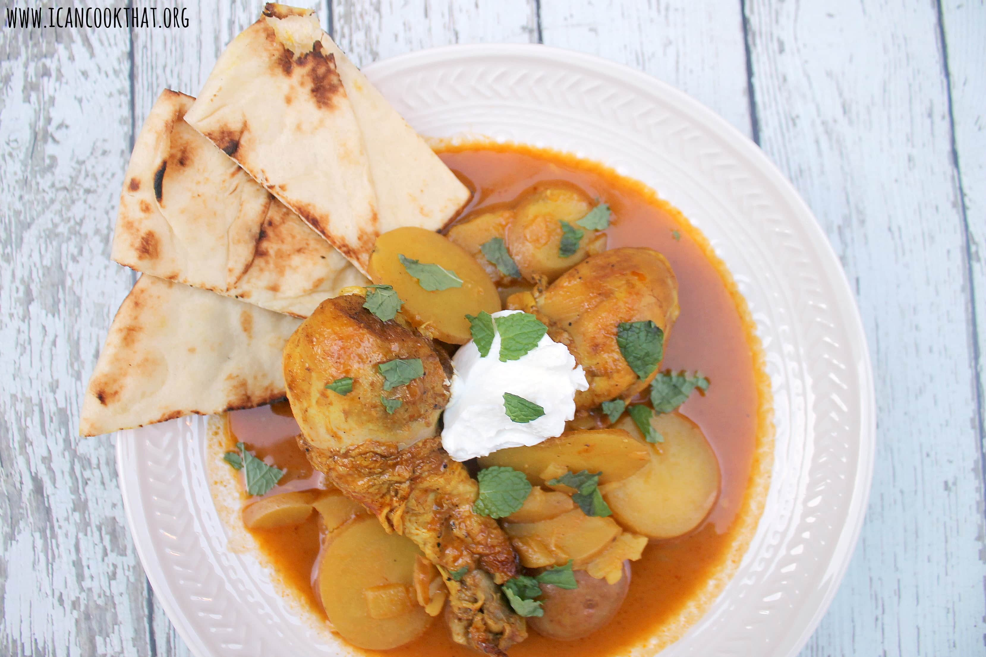 Indian Spiced Chicken and Potatoes in Tomato Cream Sauce