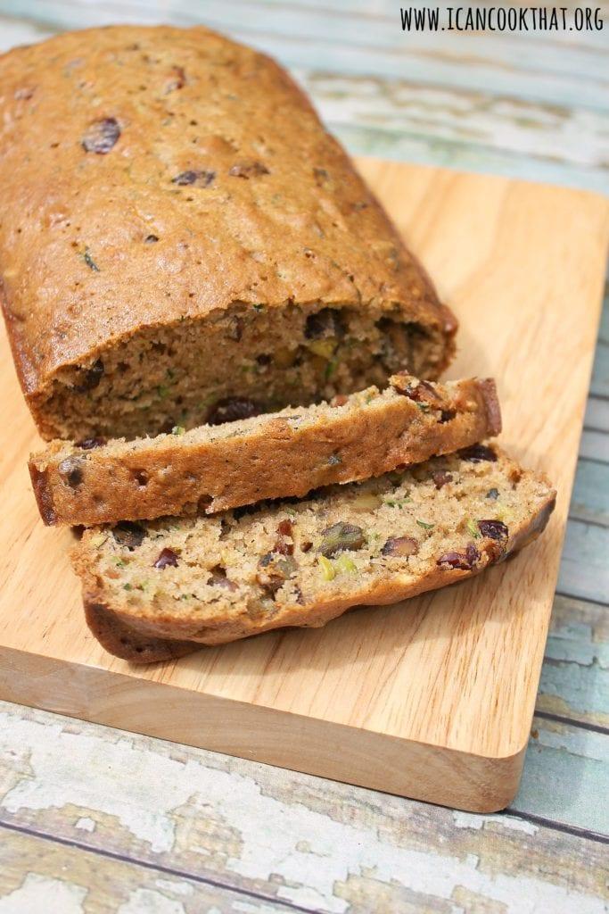 Cranberry-Pistachio Zucchini Bread