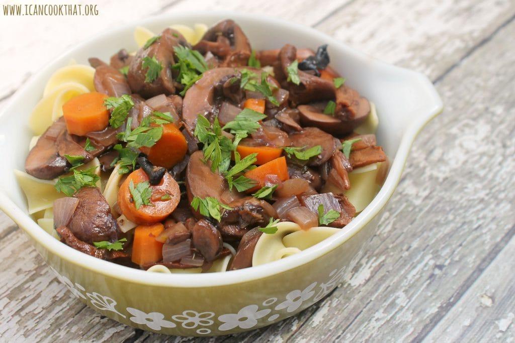 Pressure Cooker Mushroom Bourguignon