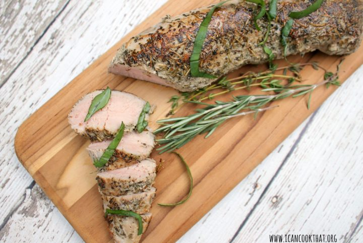 Sous-Vide Herb Crusted Pork Tenderloin