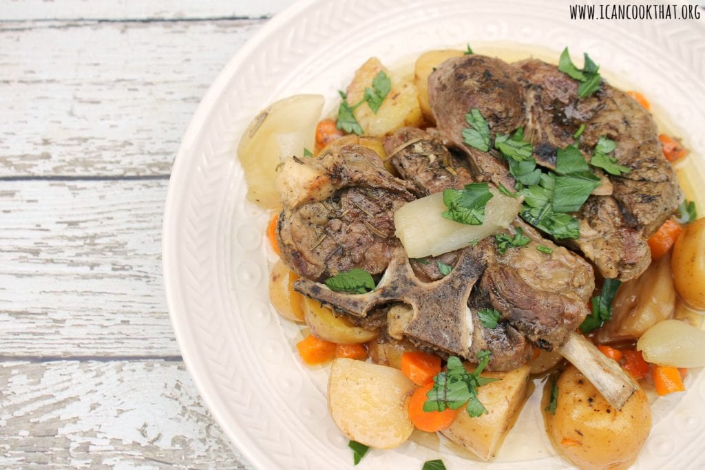 Slow Cooker Lamb in Zesty Lemon Sauce