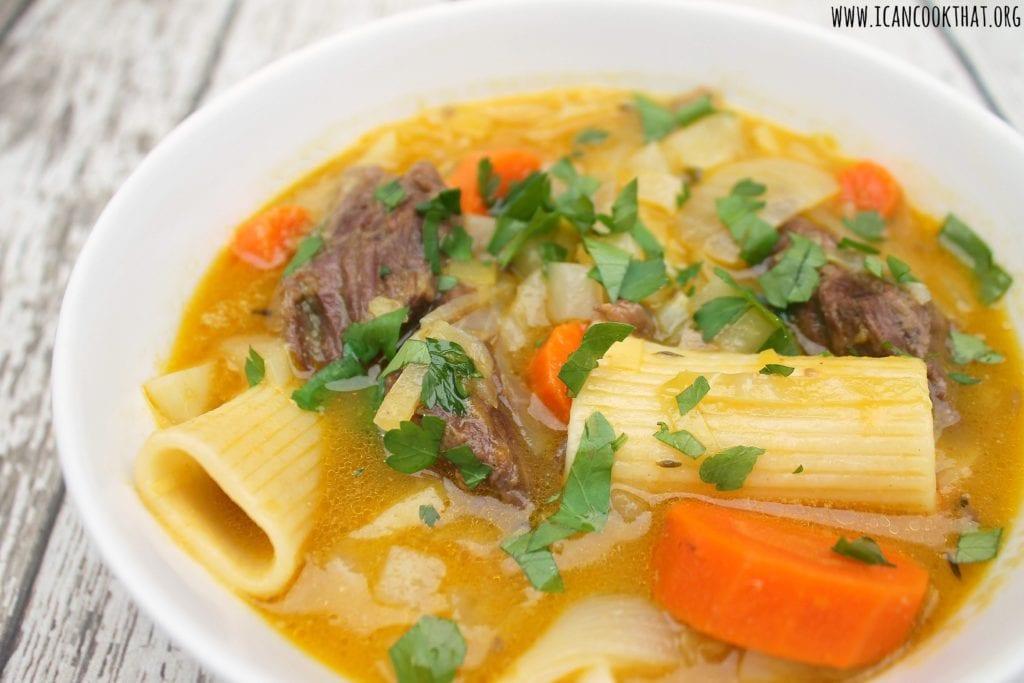 Soup Joumou (Haitian Beef and Squash Soup)