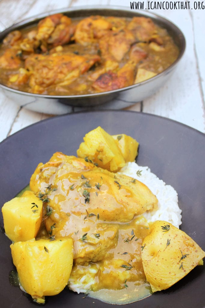 One Pot Jamaican Curry Chicken and Potatoes