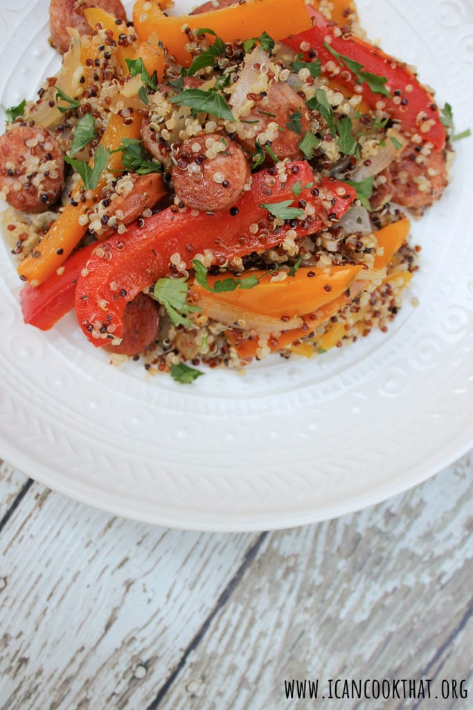 Sausage and Peppers Quinoa Skillet
