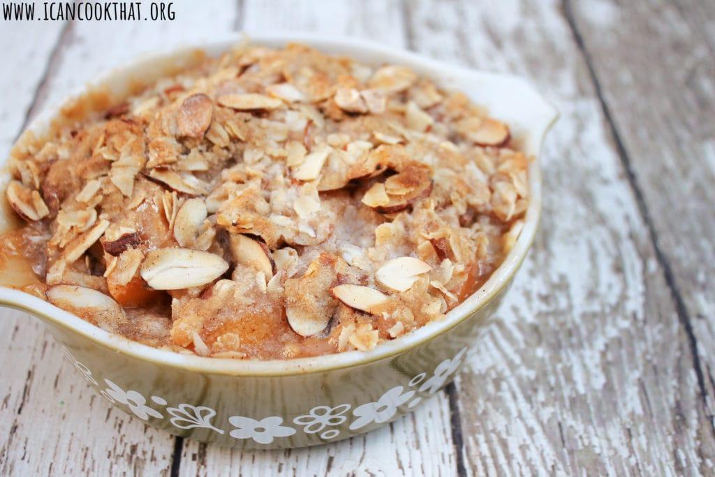 Almond Peach Crisp
