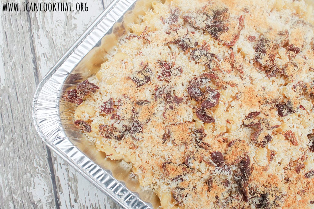 Smoky Bacon Topped Mac and Cheese