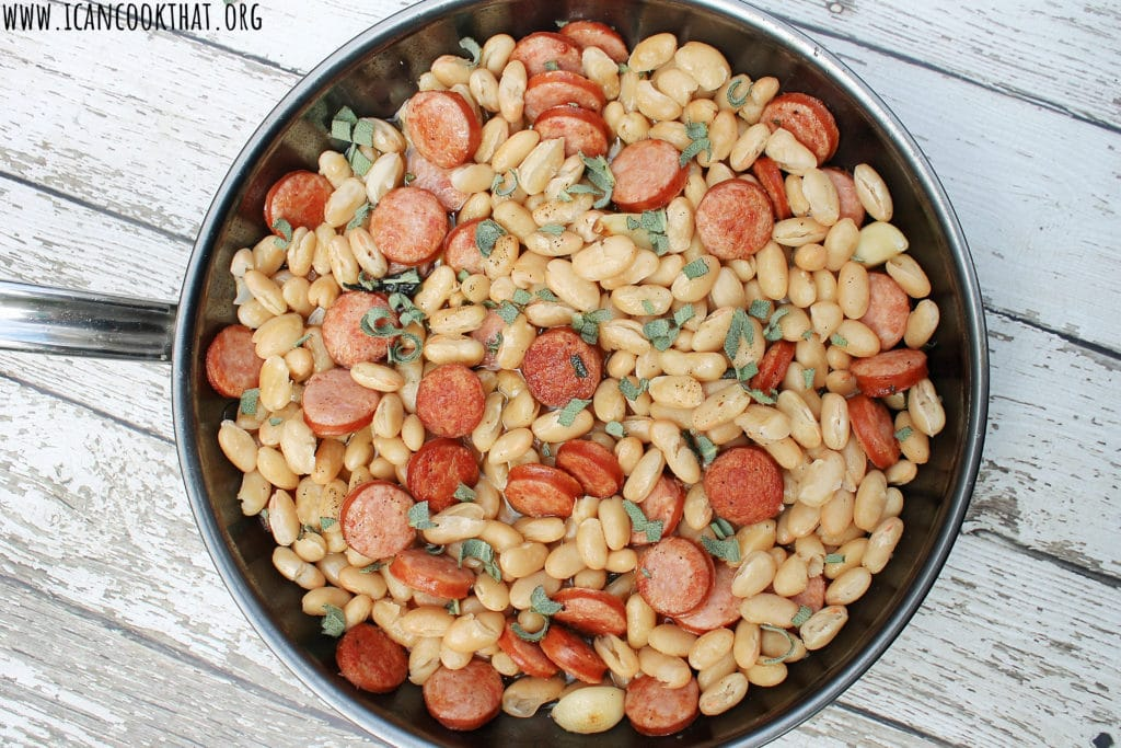 Bratwurst and White Beans with Sage